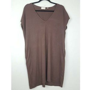 Wilfred Free Brown V Neck Dress Small